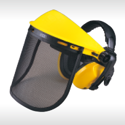 face shield with ear muff